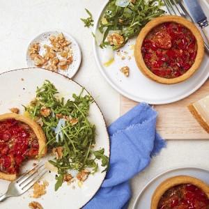 Vegan Cherry Tomato, Red Pepper & Basil Quiche - 2 × 190g
