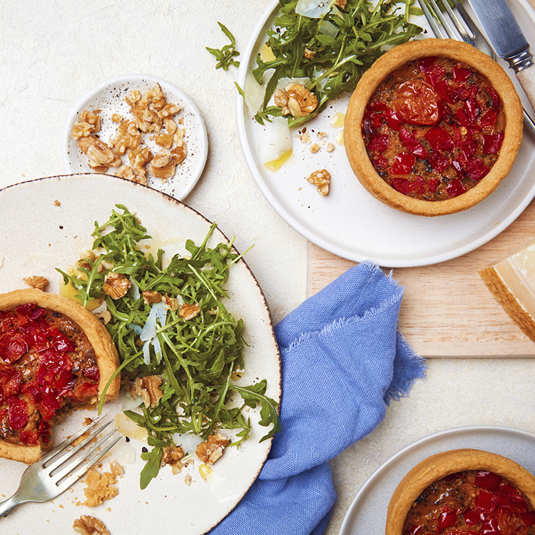 Vegan Cherry Tomato, Red Pepper & Basil Quiche - 2 × 190g