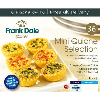 Bundle - 6 Packs of 36 Mini Quiche Selection