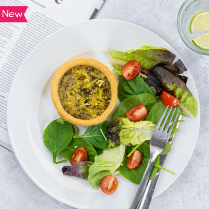 Vegan Spring Vegetable & Mature Cheddar Style Quiche - 2 x 190g