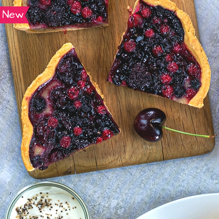 Vegan Woodland Berry & Sable Crust Tart - 1 x 400g
