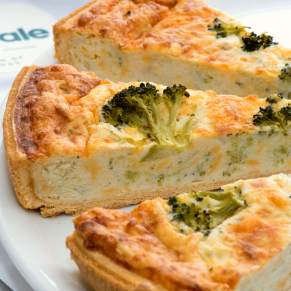 "Stilton and Broccoli 11"" Quiche (12-Portions 'Sliced')"